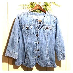 Christopher & Banks - XL Jean jacket 3/4 sleeves